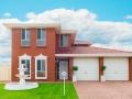 Modern Suburban red brick House